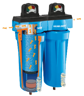 Filtre aer comprimat, filtre in linie, filtre cu purja automata de condens