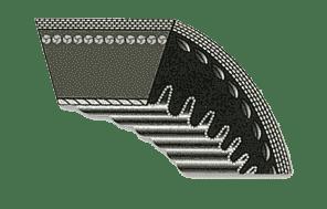 Cure de variator de turatie din cauciuc, trapezoidala dintata